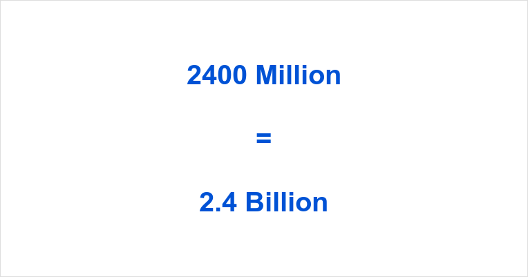 2400 Million to Billion